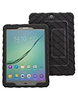 Gumdrop Samsung Tab S2 9.7 - Hideaway - Black - Black - Silicone - Rugged Shock Absorbing Protective Dual Layer Cover Case