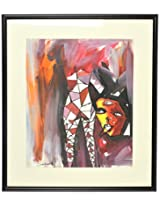 Liflad Artmart Acrylic and Paper Abstract Painting (38 cm x 38 cm, LA30)