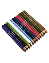 12 Colors Shimmer Eyeliner Long Pen Pencil Cosmetic Makeup Eye Liner Box Set