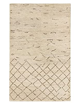 eCarpet Gallery One-of-a-Kind Hand-Knotted Royal Maroc Rug, Cream/Grey, 5' x 7' 10