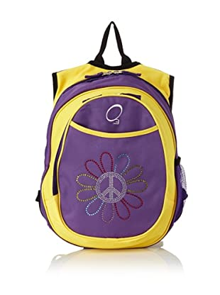 O3 Kid's All-in-One Pre-School Backpacks with Integrated Cooler (Peace Flower)