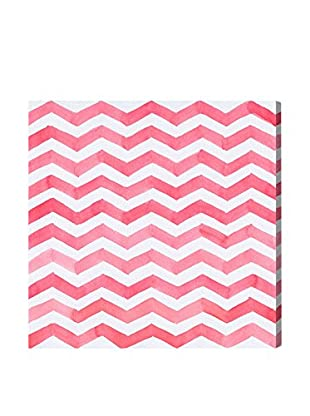 Oliver Gal 'Red Chevron' Canvas Art