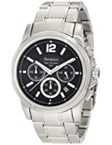 Armitron Men's 20/4789BKSV Stainless Steel Textured Bracelet Watch