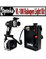 Opteka VL-100 100-Watt Professional Halogen Camcorder Video Light Kit with 12v Rechargeable Battery Pack for Canon GL2, GL1, XL2, XA10, H1S, H1A, XF305, XF300, FX105, FX100, G1S and A1S