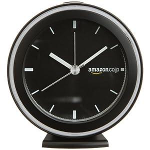 【Amazon.co.jp限定】Amazon.co.jp ロゴ版 アラーム クロック 目覚まし時計 ブラック OC227K