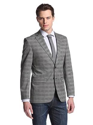 Simon Spurr Men's Basic Check 2-Button Sportcoat (Black/White)