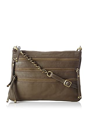 Chez by Cheryl Women's Lucia Zipper Cross-Body, Olive