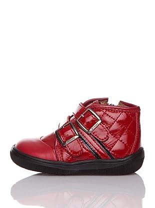 Billowy Botas Hebillas (Rojo)