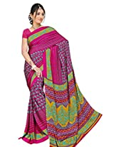Chinco Saree With Blouse Piece (P1001-B_Multicolor)