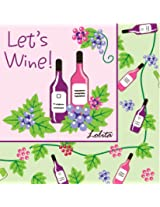 Lolita by CR Gibson Paper Cocktail Napkins, Package of 20, Wine Tasting