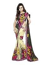 Raj Laxmi Women's Georgette Saree (Multi-Coloured)