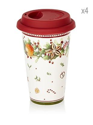 Villeroy & Boch Set  4 Vasos Café Navideños 0,35 L