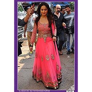 Madhuri Dixit in Designer Pink Bollywood Anarkali Suit - LFBWDF-50