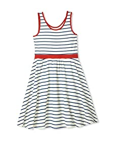 Soft Clothing Girl's Carla Tank Dress (St. Tropez Stripe)