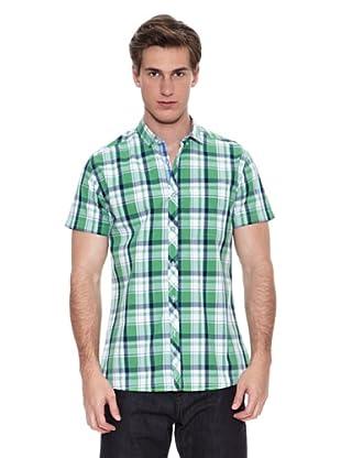Springfield Camisa Camisa Verano S1 Sunwash Check (Verde)