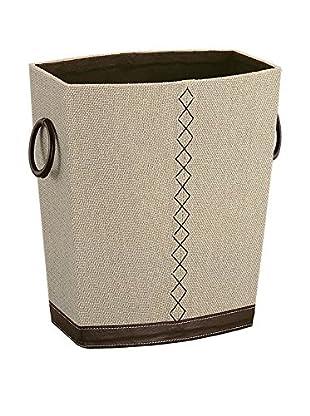 Organize It All Riviere Wastebasket, Tan/Brown