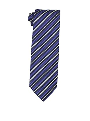 Moschino Men's Striped Tie, Navy /Blue