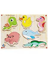 Skillofun Fun ID - Water Animals (Raised), Multi Color