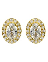 Exxotic Diva Style Gold Plated Silver Stud Earring For Girls & Women