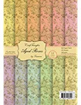 CrafTangles Scrapbook & Craft paper pack - Aged Roses (A4 Patterned Paper)