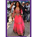 Madhuri Dixit in Designer Pink Bollywood Anarkali Suit - TBBWDF-50