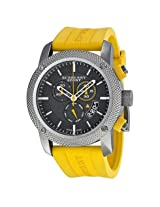 Burberry Sport Chronograph Grey Dial Yellow Rubber Men'S Watch - Bur7712