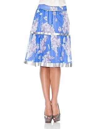 Monoplaza Falda Flores (Azul)