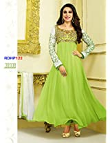 Mrig Women Faux Georgette Dress Material (El30008 _Green _Free Size)