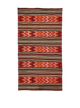 Design Community By Loomier Teppich Kilim Caucasico rot/mehrfarbig 152 x 278 cm
