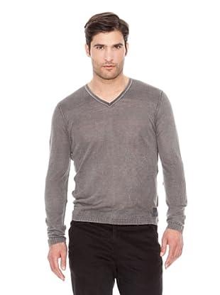 Calvin Klein Jeans Jersey Cuello V (Gris)