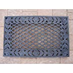 Oakland Living Tea Rose Cast Aluminum Doormat, Verdi Grey