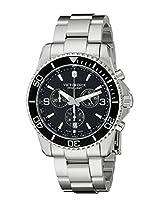 Victorinox Men's 241695 Maverick Chrono Analog Display Swiss Quartz Silver Watch