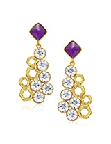 Sukkhi Charming Gold Plated AD Earring For Women