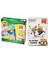 Minions Fun Pack! Crayola Color Wonder Puzzle And Minion Jumbo Playing Card