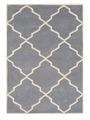 Alliyah Rugs Geometric Rug (Blue/Grey)