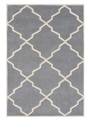 Alliyah Rugs Geometric Rug (Blue/Grey)