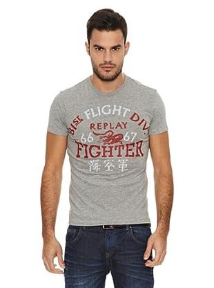 Replay Camiseta MC Letras (Gris)