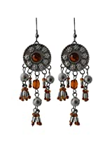 Ishita Fashion Oxidized Silver Dangle & Drop Earring For Women (Silver)