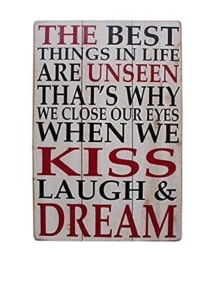 LO+DEMODA Holztafel Laugh And Dream