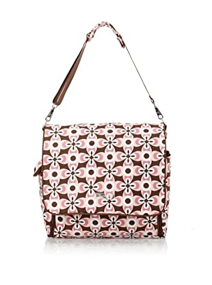 The Bumble Collection Isabella Messenger/Backpack (Graphic Geo Flower)