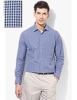 Blue Slim Fit Formal Shirt Peter England