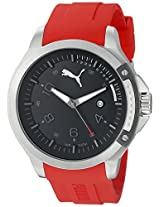 PUMA Unisex PU104011003 Pioneer silver black with Analog Display Watch