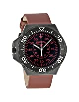Converse Foxtrot Culture Black Dial Red Leather Unisex Watch