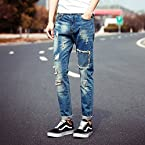 OnlyUrs 2015 Original Japanese Patchwork Scraping Rotten Frayed Torn Ripped Jeans Male Tide