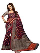 Brijraj Rashami Desai, Gray Blue Multi Bhagalpuri silk Beautifull Printed Saree Wih Unstitch Blouse