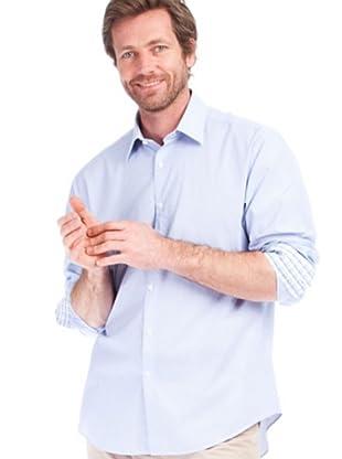 Cortefiel Camisa Raya Fina (azul / blanco)
