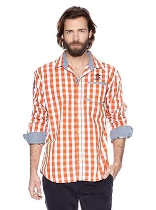 NZA New Zealand Auckland Camisa Manga Larga Cepi (Naranja / Blanco Roto)