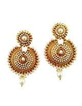 Lalso Gold-Plated Dangle & Drop Earring For Women Gold - LAE34W