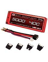 Venom 40C 2S 5000mAh 7.4 Hard Case LiPO Battery ROAR Approved with UNI Plug