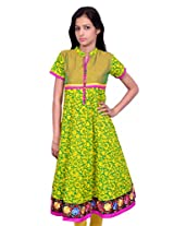 Amour Traditional Cotton Green Color Anarkali Kurta - 426-green-S